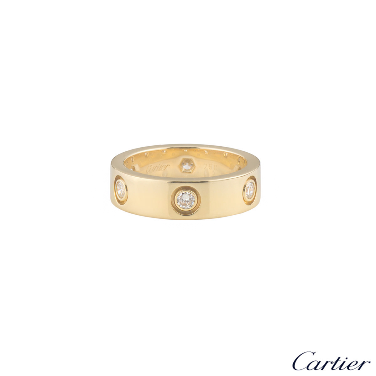 CartierYellow Gold Full Diamond Love Ring Size 56 B4025956